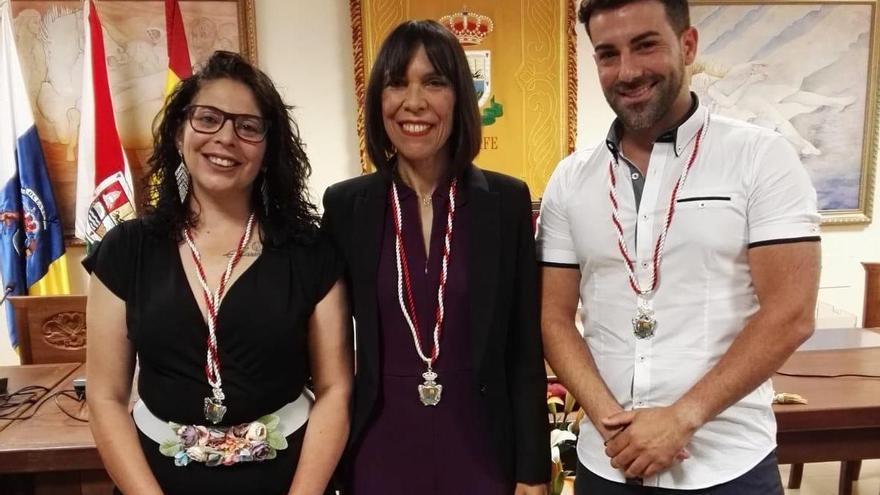 Ediles del PSOE en el Ayuntamiento de Tijarafe.