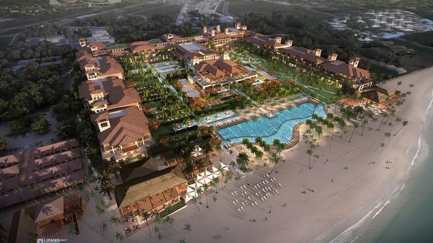 Proyecto del hotel Lopesan Costa Bávaro que abrirá sus puertas el próximo verano.