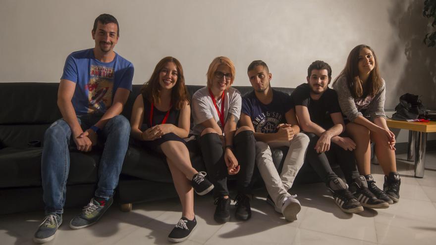 Seis de los youtubers que más crecen, en el Congreso Web. Foto: DDproducciones