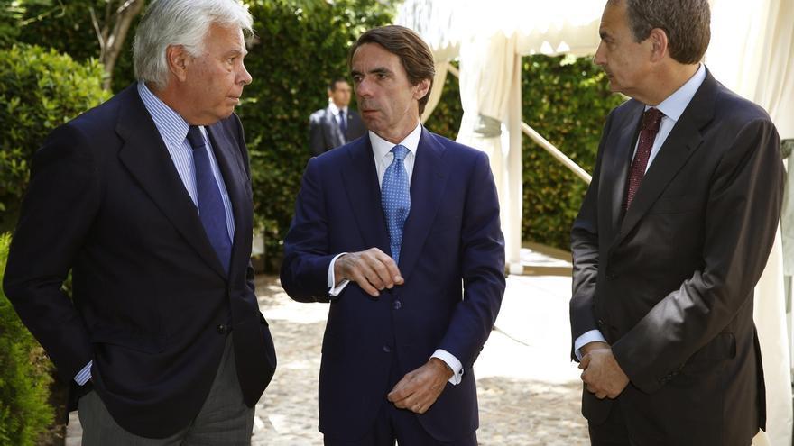 Felipe González, Aznar y Zapatero participarán este miércoles en una mesa redonda sobre los 40 años de democracia