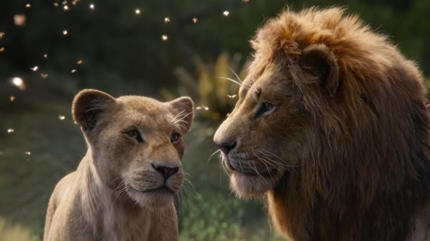 Nala y Simba en 'El rey león'