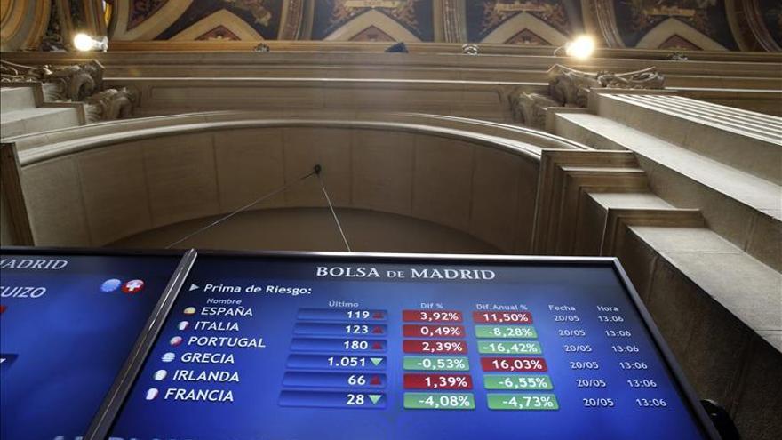 La prima de riesgo sube a 134 puntos por la caída del bono alemán al 0,511 por ciento