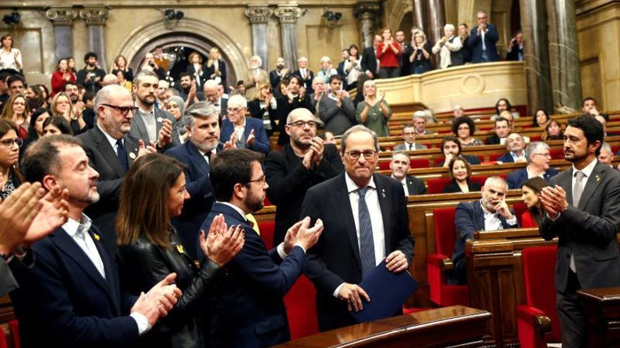 La Mesa del Parlament rechaza la reconsideración de Cs sobre la comparecencia de Torra