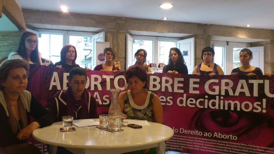 Presentación de la manifestación convocada por la Plataforma Galega polo Dereito ao Aborto