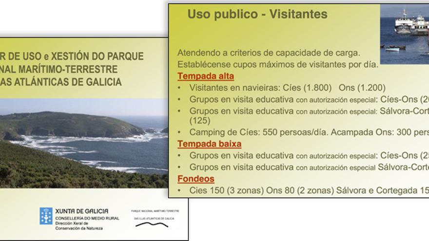 Presentación sobre el plan rector de las Islas Atlánticas, elaborada pola Xunta en 2011