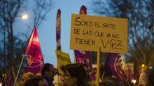 """Imagen de archivo: """"Somos el grito de las que ya no tienen voz"""", manifestación del 8M 2016."""