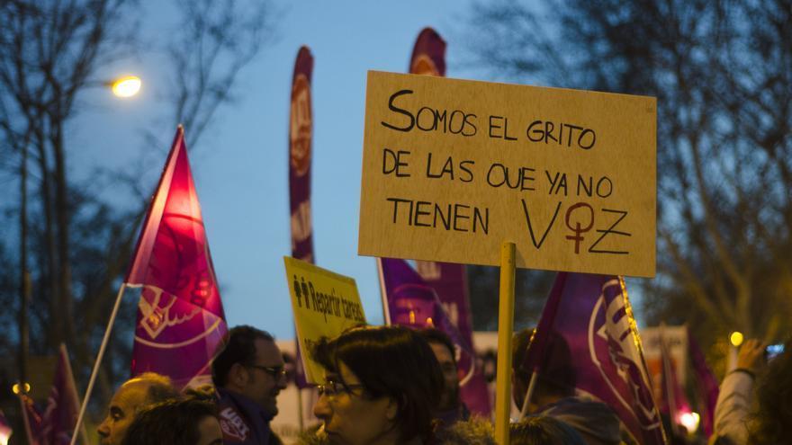 """""""Somos el grito de las que ya no tienen voz"""" Manifestación del 8M \ Foto: Alejandro Navarro Bustamante"""