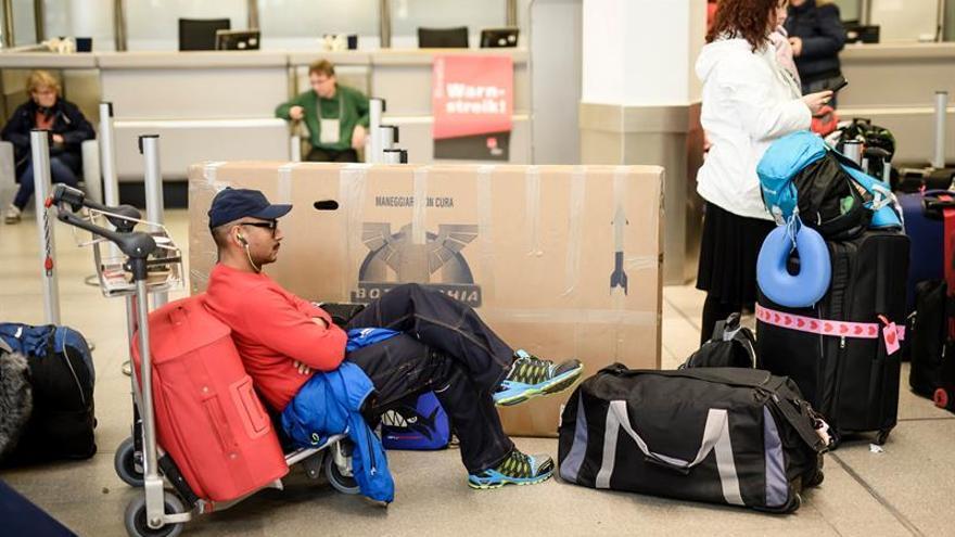 Más de 200 vuelos cancelados en Berlín por una huelga del personal de tierra