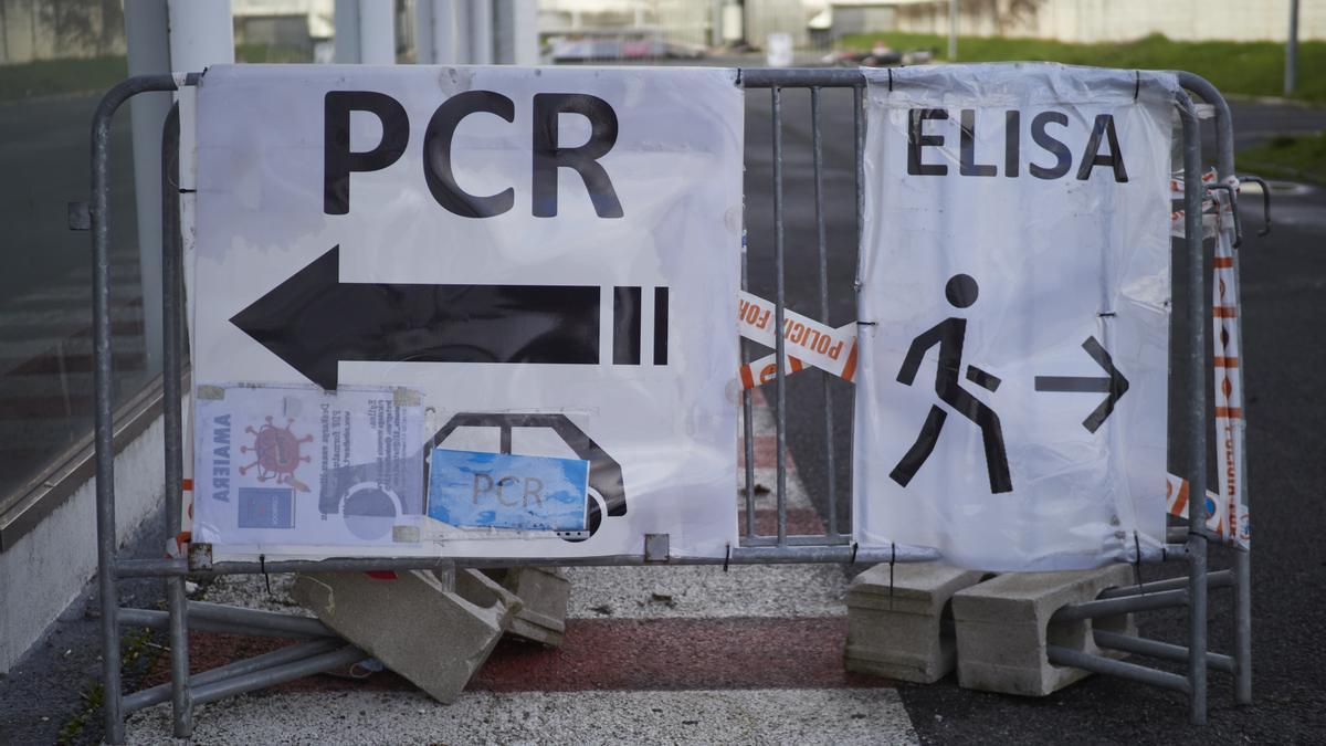 Dispositivo de pruebas de COVID-19 en Pamplona