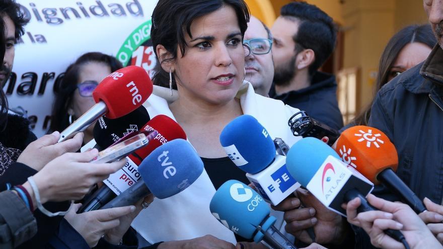 """Teresa Rodríguez ve """"absurdo"""" cuestionar la coalición entre Podemos e IU, que ya fue respaldada de forma """"mayoritaria"""""""