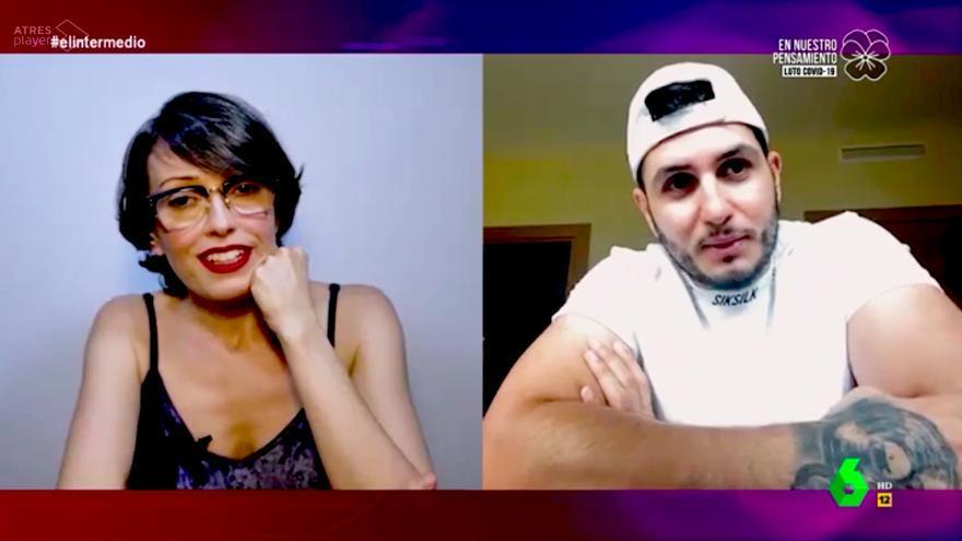Thais Villas entrevistando a Omar Montes en El Intermedio
