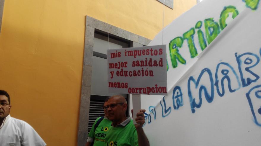 Pancarta del Partido Verde.