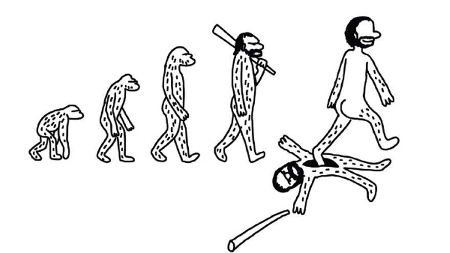 Ilustración de portada de 'Homo machus' (Lumen), de Javirroyo.