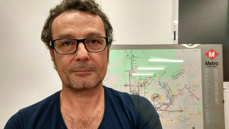 Ricardo Vercher en la sede de la sección sindical de CCOO en Metro de Barcelona