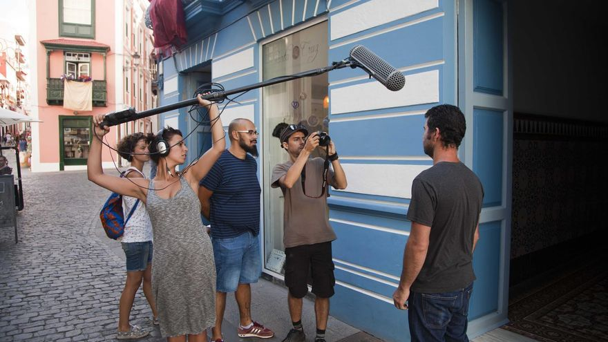 En la imagen, rodaje de un corto en el concurso 'La Palma Rueda'.