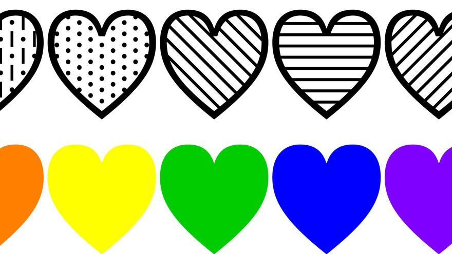 Los 'emojis' de corazones diseñados por Paul Hunt