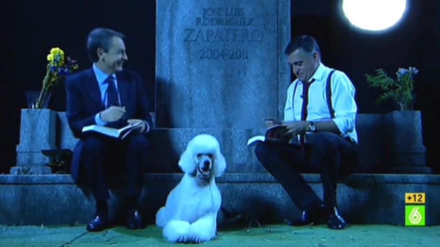 Zapatero y su tumba - El Intermedio - Vertele