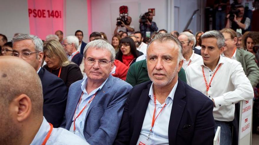 El presidente de canarias Angel Víctor Torres, durante la reunión del Comité Federal del PSOE.