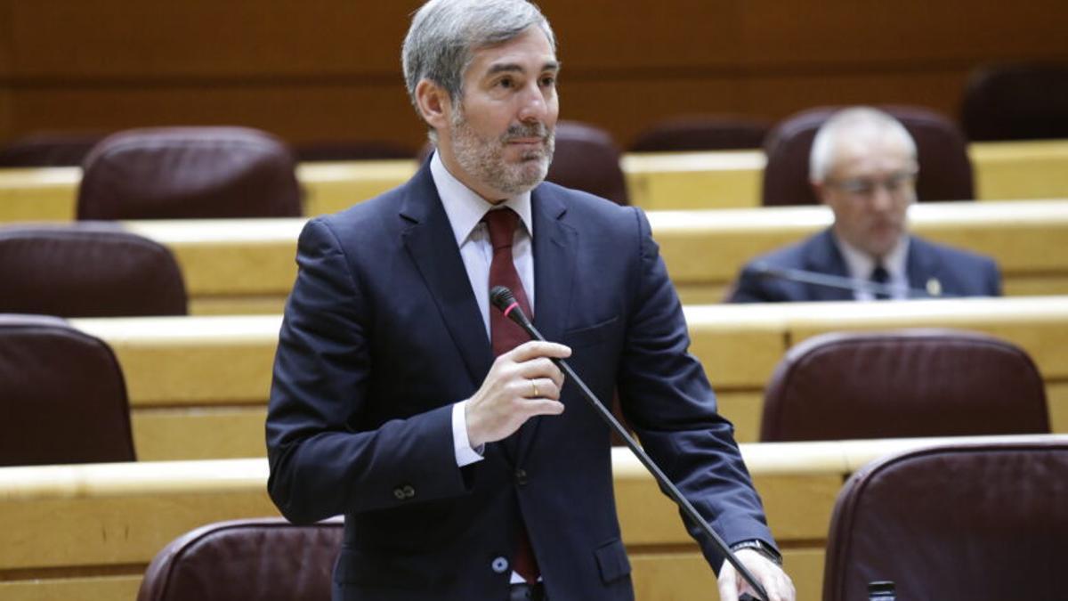 Fernando Clavijo (CC), en el Senado