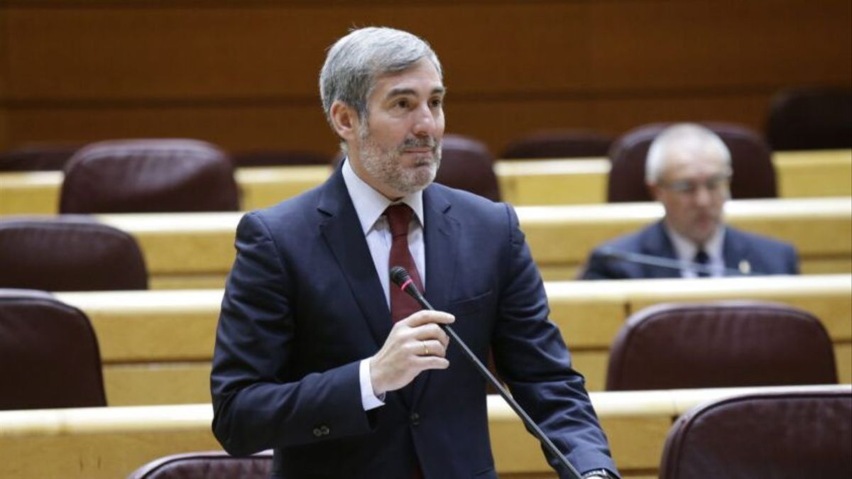 Fernando Clavijo (Coalición Canaria) durante una intervención en el Senado