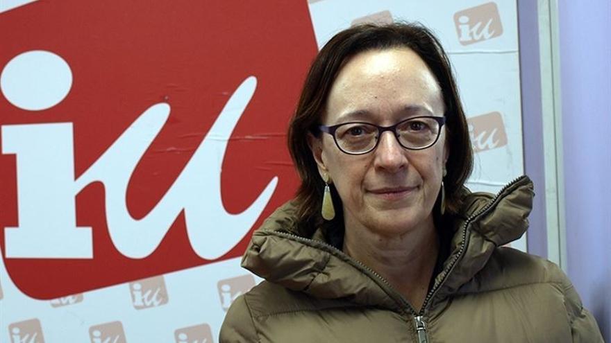 La candidata de Izquierda Unida a la Presidencia de Cantabria, Mercedes Boix.