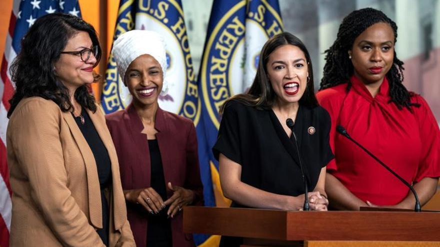 Trump alimenta su polémica racista contra cuatro congresistas demócratas