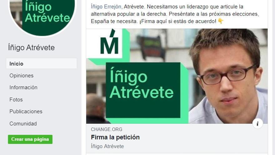 Página falsa que hizo propaganda política que no quedó registrada en la herramienta de transparencia de Facebook.