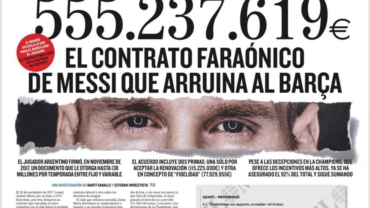 La portada del diario El Mundo que desató la polémica.