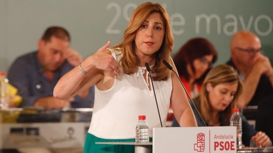 """Susana Díaz pide unidad y fortaleza y destaca la """"generosidad"""" del PSOE-A pensando en el conjunto del PSOE"""