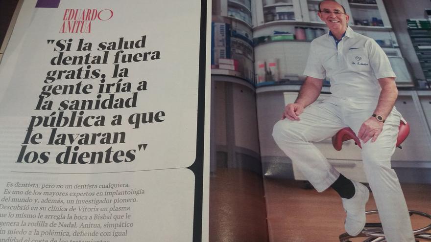 Eduardo Anitua, entrevistado por la revista XL Semanal