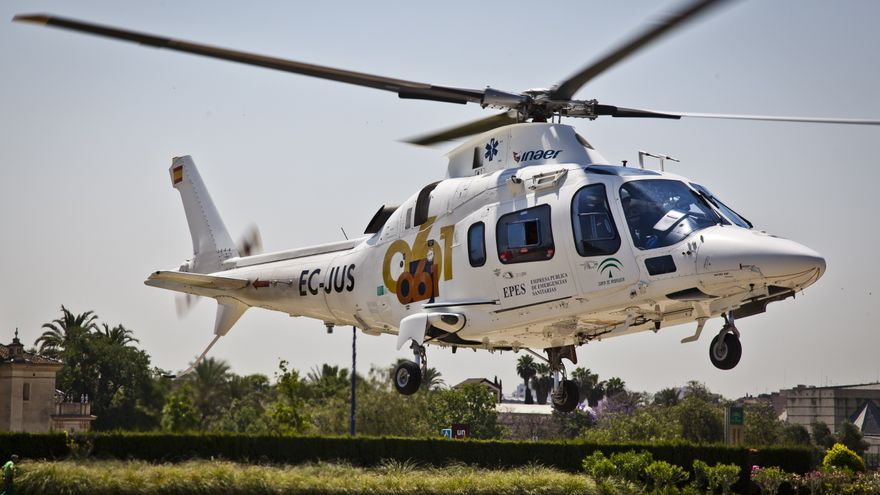 Helicóptero de emergencia sanitaria