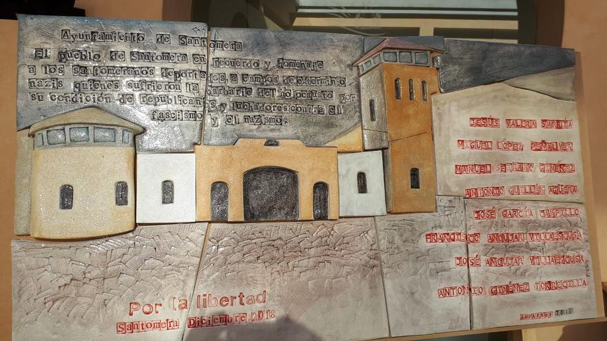 Mural conmemorativo que se instalará en la Plaza del Ayuntamiento de Santomera