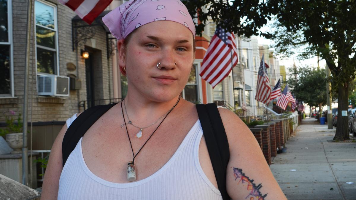 Cori-Anne Fagan, vecina de la calle Hausman, en Brooklyn.