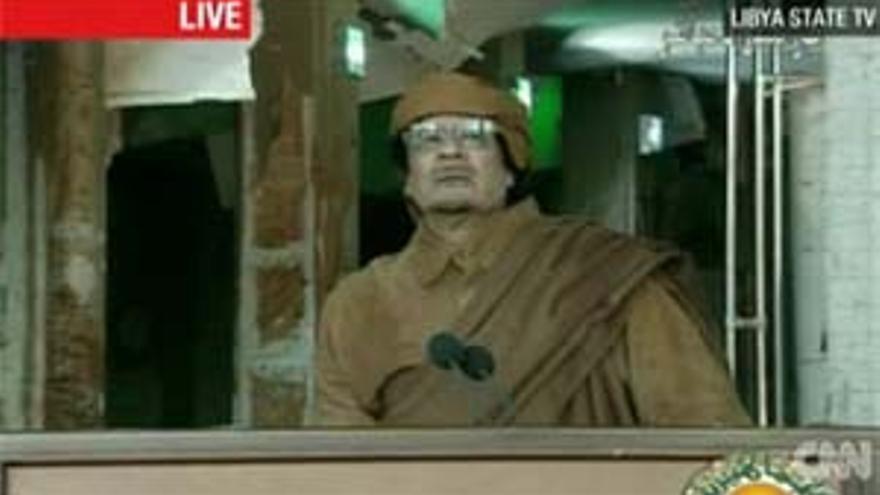El dirigente libio, Muamar Gadafi.