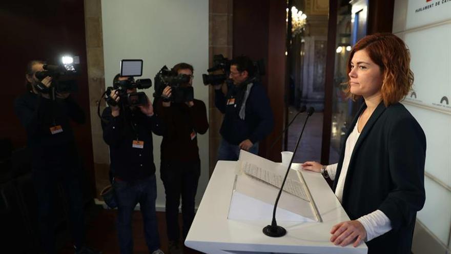 Elisenda Alamany, portavoz de Catalunya en Comú, asegura que el TC no tiene derecho a marcar el debate