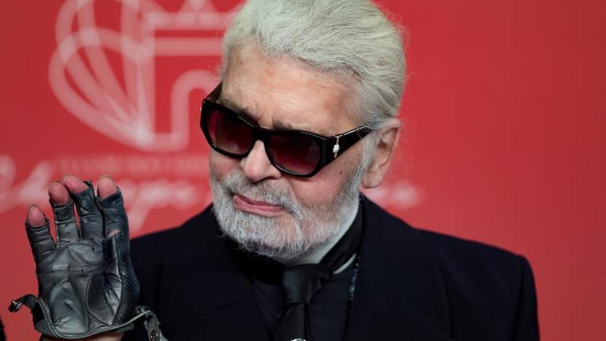 El diseñador alemán Karl Lagerfeld en noviembre pasado