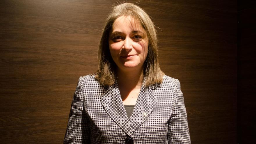 La ministra de Turismo de Palestina, Rula Ma'ayah. Fotografía: Miguel Ángel Moreno