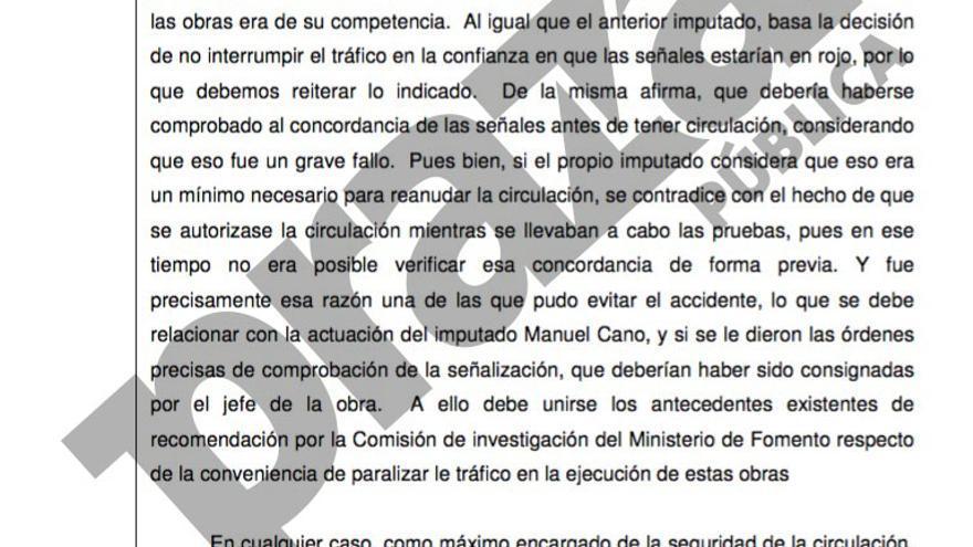 Auto de la Audiencia de Segovia del pasado viernes 30 de septiembre que imputa a Cortabitarte por el puesto que ocupaba