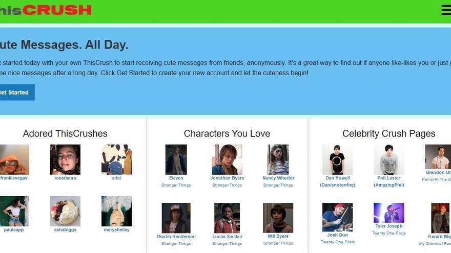 ThisCrush es la plataforma que sirvió de inspiración para el desarrollo de Curious Cat