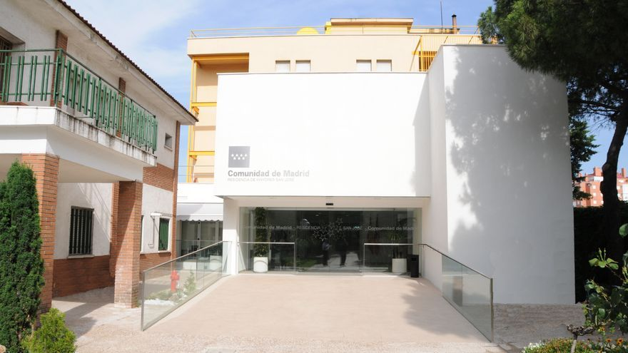 Entrada de la residencia San José, en Orcasitas. / Madrid.org
