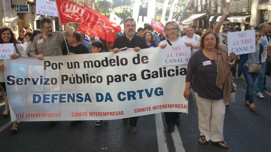 Personal de la CRTVG, contra los recortes en ambas empresas públicas
