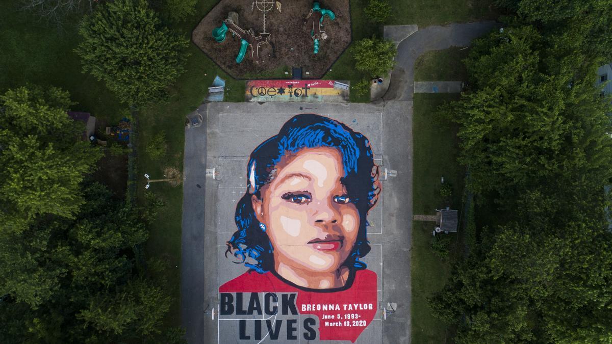 Vista de un mural en honor a Breonna Taylor en Maryland (EEUU).