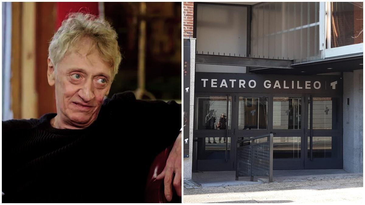 El actor fallecido Quique San Francisco, junto a una imagen del teatro que llevará su nombre