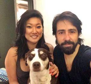 Alison y José, con Martina