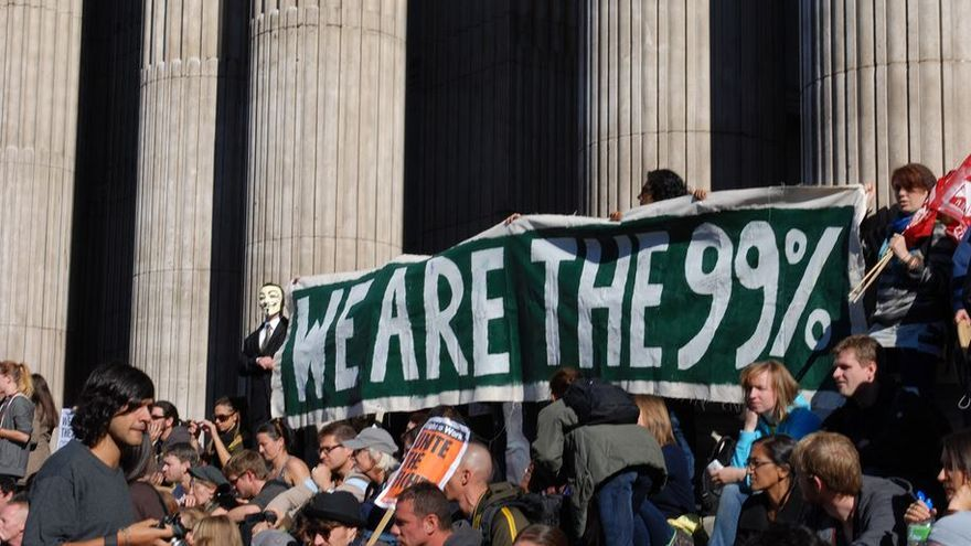 """Somos el 99%"". Manifestación de Occupy London, octubre 2011. 