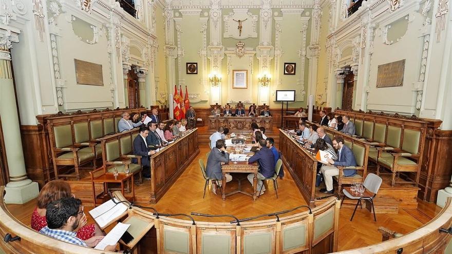 El Pleno ordinario del Ayuntamiento de Valladolid en una imagen de archivo.