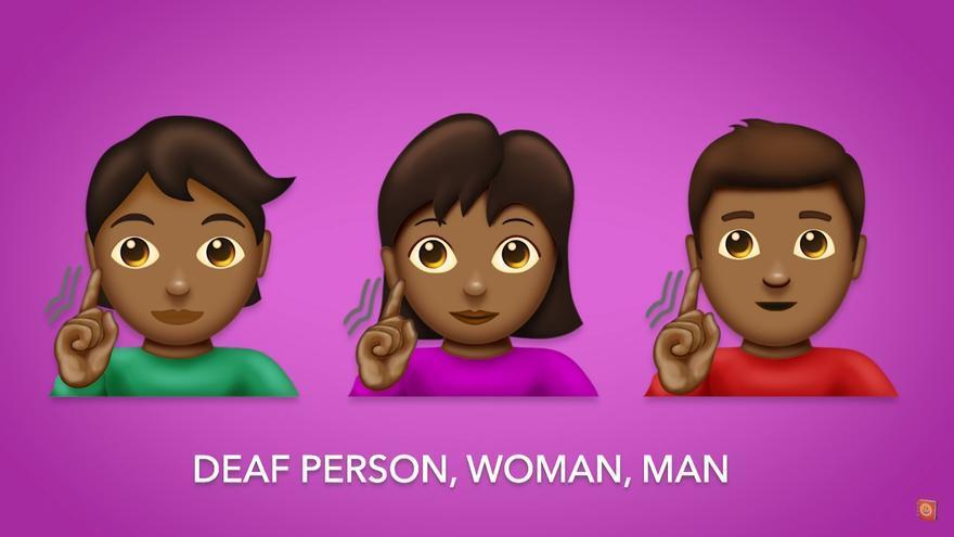 Icono para designar a una persona sorda