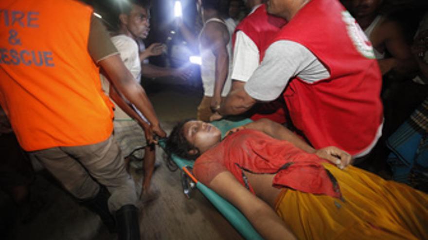 Derrumbe de un edificio en Bangladesh