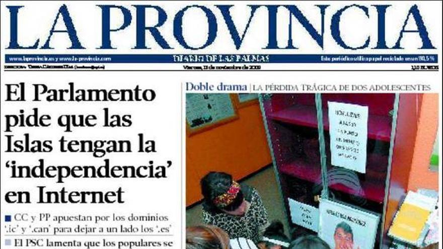 De las portadas del día (13/11/09) #7