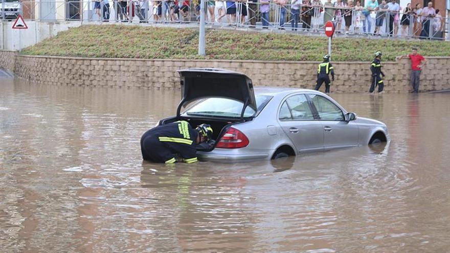 Una tormenta provoca inundaciones en Villanueva de la Serena (Badajoz)